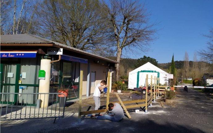 Travaux Accueil Camping Dordogne