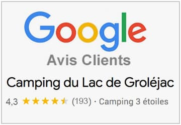 Note Camping sur Google