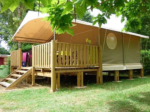 Tente lodge Canada Camping Dordogne