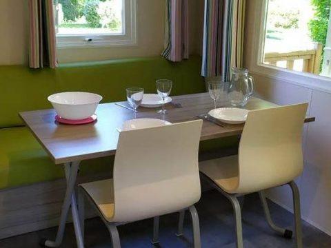 Photo du séjour du mobilhome Astria en Dordogne